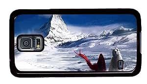 Hipster Samsung Galaxy S5 Case designer polar bear human PC Black for Samsung S5