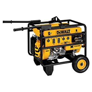DeWalt DG6300BC Heavy Duty 6,300 Watt 389cc 13 HP Gas Powered Portable Generator With 18 Volt Battery Electric Start (CARB Compliant)