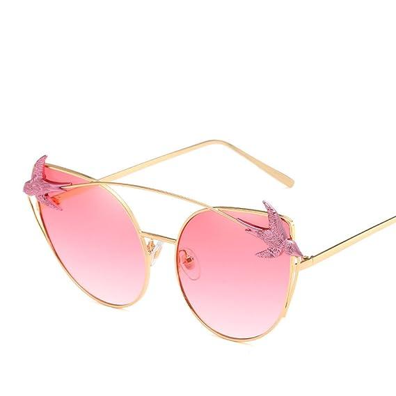 Occhiali Da Sole Retrò Personalità Lady Cat Eye Personality Fashion Bird Travel UV400 Glasses,Purple