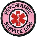 Pink PSYCHIATRIC SERVICE DOG Medical Alert Symbol 2.5 inch Sew-on Patch