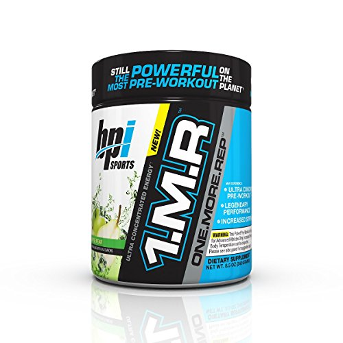 BPI Sports 1MR One More Rep Ultra Concentrated Energy Supplement, Apple Pear Supplement, 8.5 Ounce (30 Servings)