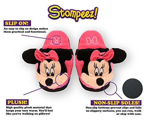 Stompeez Animated Minnie Mouse Plush Slippers - Ultra Soft and Fuzzy - Ears Flap as You Walk - Medium by Stompeez (Image #2)