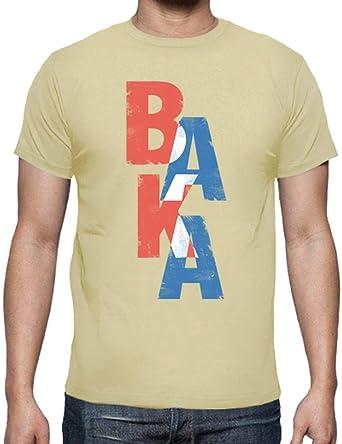 latostadora - Camiseta Baka Palabra Japonesa para Hombre Crema S: Amazon.es: Ropa y accesorios