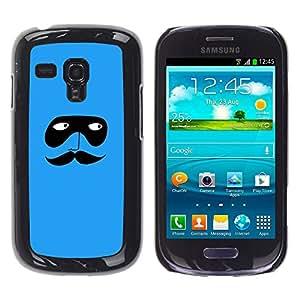 iKiki Tech / Estuche rígido - Blue Mask Cartoon Minimalist - Samsung Galaxy S3 MINI NOT REGULAR! I8190 I8190N