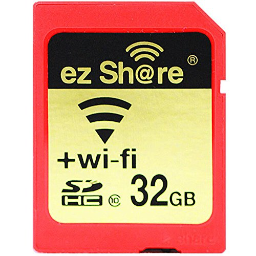 ez Share 8GB 16GB 32 GB Or Adapter WiFi SDHC card Class10 SD card Wireless camera memory card for Camera Cannon SAMSUNG SONY FUJIFILM CASIO Nikon Panasonic PENTAX OLYMPUS (32GB)