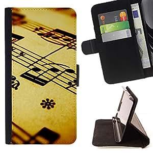 Momo Phone Case / Flip Funda de Cuero Case Cover - La notación musical - HTC Desire 626