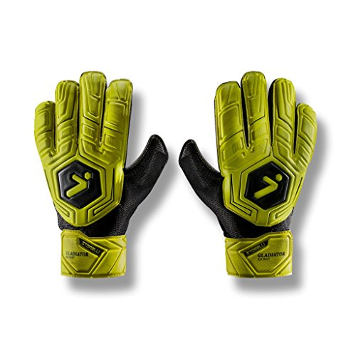 - Storelli Gladiator Recruit Goalkeeper Gloves |High Perfomance Soccer  Goalkeeper  Gloves |Super-Soft Premium Latex|Sweat-Wicking|Black
