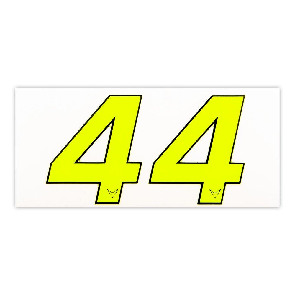 Zahlen, Nummern, Startnummer Aufkleber 2er Set # 4 Neon RACEFOXX RF23733