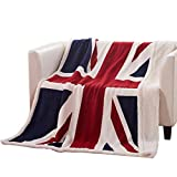 USTIDE Super Soft Fleece Blanket The Union Jack Sherpa Throw Blanket Super Comfy Blanket Comfort Caring Gift Blanket 51''x63''