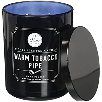 Decoware Richly Scented Warm Tobacco Pipe Candle 14.82 OzIn Glass