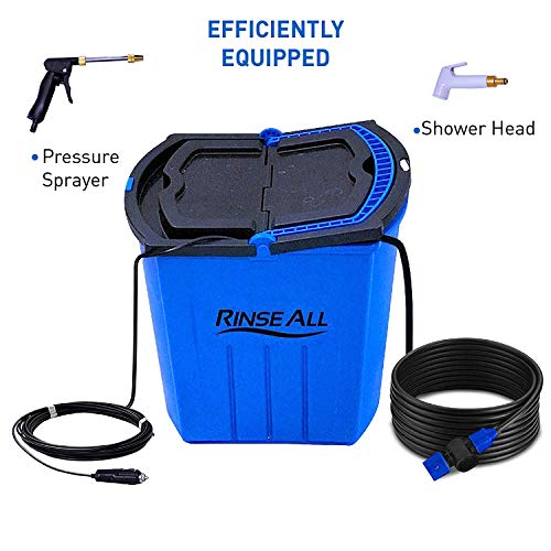 EasyGO Products Rinse All Ew10-12V Powered Car Washer Kit - 7 Gallon Portable High Pressure Camping Shower