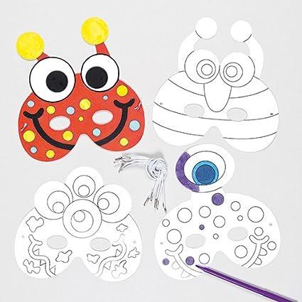 Amazon.com: Monster colour-in máscaras para niños para ...
