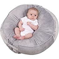 Leachco Podster Plush Sling-Style Infant Lounger - Gray