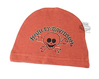 Harley-Davidson Boys Baby Little Rebel Skull Interlock Beanie-INF/TOD