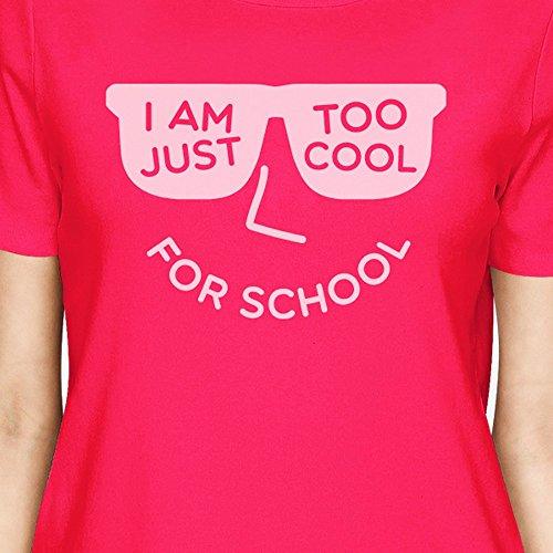 monocolore Cool For T 365 donna Stampa per shirt School corta Pink Hot manica Yw8FSqZ