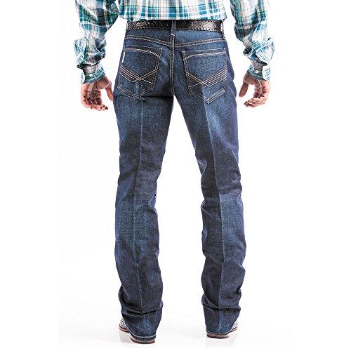 Cinch Men's Ian Slim Fit Jean, Dark Stonewash Zig zag, 31 x32 (Mens Cinch)