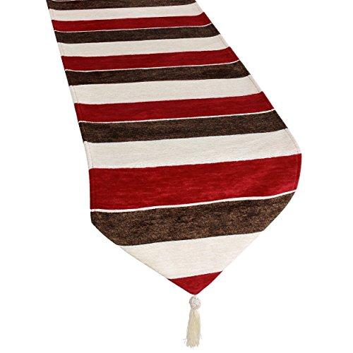 Violet Linen Decorative Deluxe Chenille, Striped Design, 13