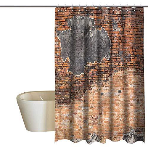 Picasso Brick - RenteriaDecor Shower Curtains Picasso Brick Wall,Cracked Concrete Design,W72 x L96,Shower Curtain for Shower stall