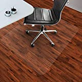 PVC Chair Mat Office Hard Floor Carpet Protection Highly Transparent Durable Scratch Resistant,2mmThickness-140x140cm