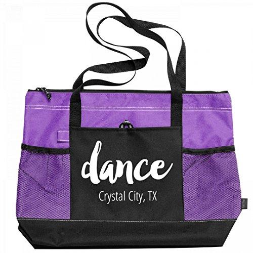 Dance Crystal City, TX: Gemline Select Zippered Tote Bag