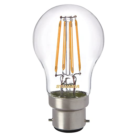 Sylvania 0027244 Toledo retro lámpara de LED con forma de bola, cristal, casa de