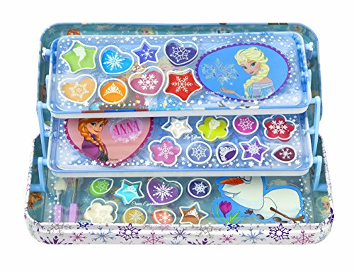 Markwins Disney Frozen/ Die Eiskönigin / Geschenk-Set: Metalldose + Make-up (Schminke) + 3 Aufkleber - für Kinder