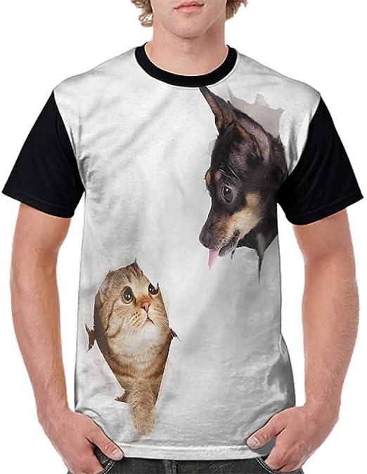 BlountDecor Loose T Shirt,Puppy Reading Newspaper Fashion Personality Customization