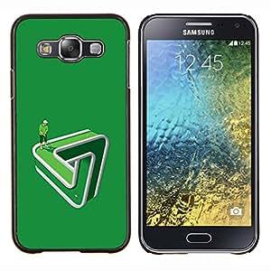 LECELL--Funda protectora / Cubierta / Piel For Samsung Galaxy E5 E500 -- Poner Golf verde divertida paradoja --