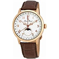Lucien Piccard Silver Dial Leather Mens Watch 40016-RG-02S-BRW