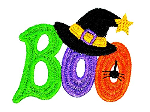 PP Patch Cute Boo Words Halloween Spider Cartoon Patch for Bags Jacket T-Shirt Embroidered Sign Badge Costume DIY Applique Iron on Patch