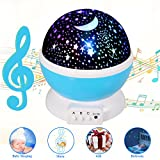 [Updated] Music Star Projector, Children Rechargeable Star Light Rotating Projector, 360° Constellation Rotating Star Projector Lamp with 12 Songs, Relax Gifts for Babies, Children, Nursery and Family