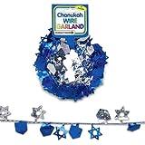 Chanukah Wire Garland - Stars & Dreidels