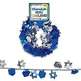 Chanukah Wire Garland - Stars & Dreidels (1)