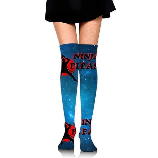 NINJA PLEASE Unisex Over Knee High Socks Extra Long Athletic ...