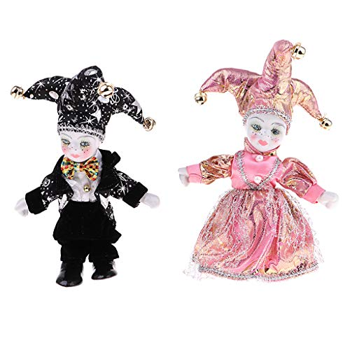 - SM SunniMix 6'' Italian Eros Standing Triangel Dolls Love Token Christmas Valentine Adult Collectible - Black+Pink, as described