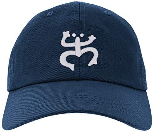 (Cap Embroidered Puerto Rico Taino Frog Cap, Adjustable Baseball Hat-TainoFrog-EM-0027-Navy)