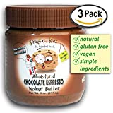 Crazy Go Nuts Flavored Walnut Butter & Healthy Snacks: Gluten Free, Vegan, Low Carb, Non GMO + Keto Snacks, 9oz 3 pack - Chocolate Espresso