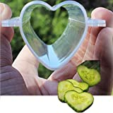 WHOSEE 4-Pack Long Heart Growing Heart Shaped Sapodilla Cucumber Mold Garden Shaped Fruit Mould Tool