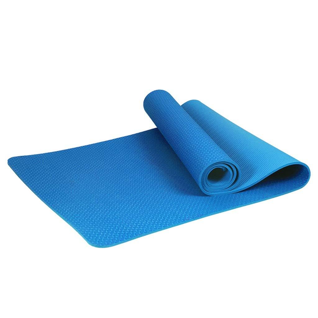 A JSSFQK Tapis de Yoga sans goût TPE Tapis de Yoga épaississement allongement élargissement élargissement Tapis de Remise en Forme antidérapante pour débutants de 61CM Tapis de Yoga 8mm