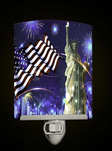 American Patroit Liberty Decorative Porcelain Tile Night Light