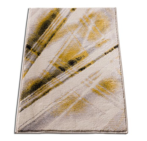 Lighthearted Laia Beige & Yellow Area Rug 2x3 ( 20