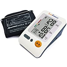 LotFancy FDA Approved Auto Digital Arm Blood Pressure Monitor,30x4 Memories,4 Inch LCD,Irregular Heartbeat Detector,WHO Indicator,Last 3 Results Average