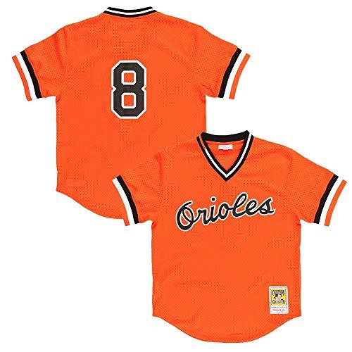 Cal Ripken Orange Baltimore Orioles Authentic Mesh Batting Practice Jersey XX-Large ()