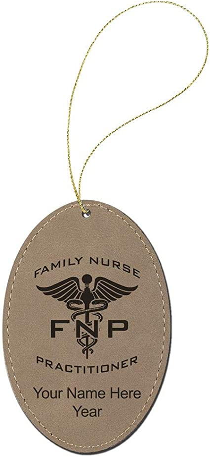 Oval Keychain FNP Family Nurse Practitioner
