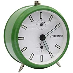 Sternreiter Qwirly Store UmeО Mechanical Alarm Clock Traditional Metal Mechanism, Lume Hands Numbers, Green #MM 111 603 34
