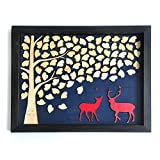 Wedding Guest Book Alternative Tree with Deer Country Wedding Guest Book Rustic Wood Frame Wedding Gifts Bridal Shower Gifts