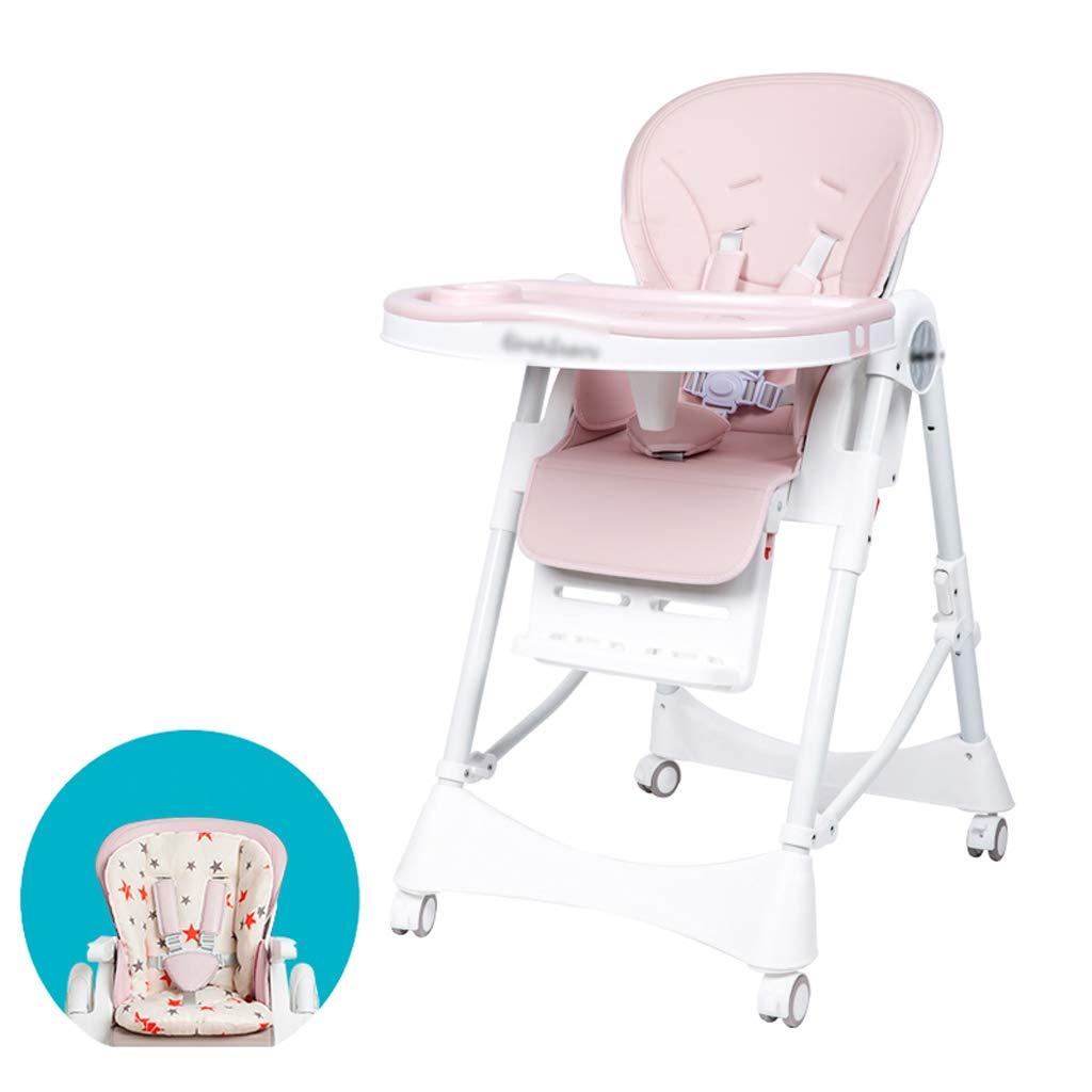 昼寝折りたたみ椅子 折り畳み式ベビーハイチェア、8つの異なる高さのベビーチェア3つの異なる位置で調節可能な座席供給シート多機能リムーバブルトレイ1つに付き3つの子供の椅子(利用できる3色) ポータブル折りたたみチェア (Color : A) B07T4HLVPG A
