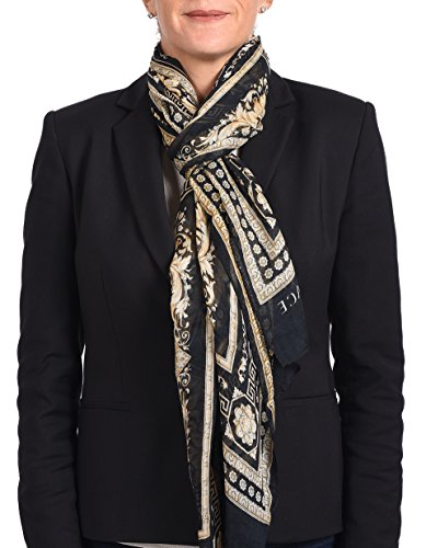 Versace Collection Women cashmere mix Scarf Shawl Made Italy in BOX 205x65 - Versace Made In