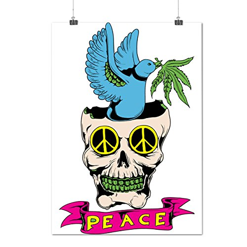 [Peace Love Skull Eye Song Bird Matte/Glossy Poster A2 (17x24 inches) | Wellcoda] (Weed Dealer Costume)