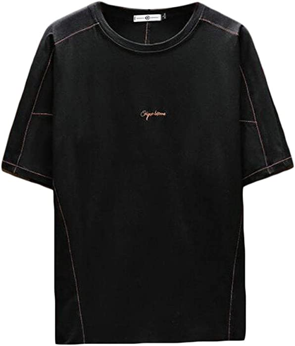 c5252cd83 Fensajomon Men's Plus Size Short-Sleeve Relaxed Fit Crew Neck Casual T-Shirt  Tee